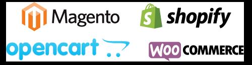 Magento Opencart Shopify WOOcom